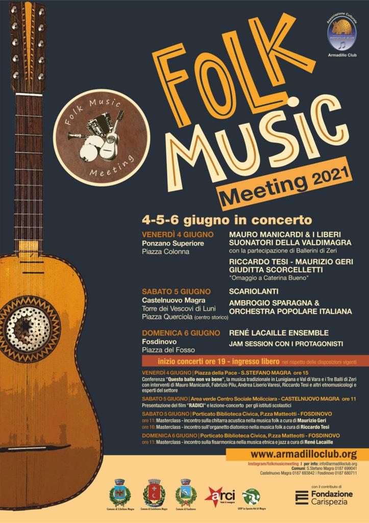FOLK MUSIC MEETING  1a edizione 2021 sabato 5 e domenica 6 giugno